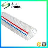 Boyau renforcé clair de débit industriel de l'eau de fil d'acier de PVC