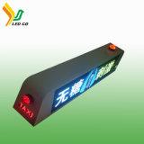 Tweezijdige P5mm LEIDENE van het Teken van het Dak van de Auto /Taxi Hoogste LEIDENE Vertoning voor Video Reclame