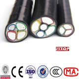 4X95+50mm2 Copper XLPE Insulated PVC Sheath Electrical Power Cable