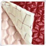 Vêtement d'hiver de tissu de polyester à double face tissu à doublure matelassée rembourré