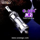 Seego G-Ha colpito l'EGO elegante futuristico Clearomizer del vaporizzatore dell'olio di disegno K2