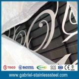 430 0.6mm Epaisseur Gravure en acier inoxydable Liste des prix des feuilles