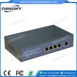 Interruptor de ponto de entrada de 10 / 100Mbps com 4 portas e 1 RJ45 Uplink (POE0410B)