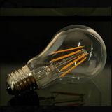 Lámpara del vidrio 4W 6W 8W A60 E27 Edison LED