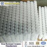 92% y 95% de alúmina de cerámica resistentes a la abrasión del azulejo del mosaico hexagonal: Stick de papel adhesivo o incrustado en caucho vulcanizado en cemento, acero, carbón, industria de la energía