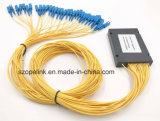 Gpon 원거리 통신 1X32 플라스틱 상자 PLC 쪼개는 도구