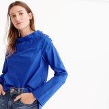 Trichter-Stutzen-Hemd mit drastischem Shirttail-Rand