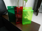 caja de PVC de plástico de color (caja de embalaje de regalo)