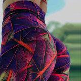 Nova impressão de folha de venda quente Yoga Fitness atingiu Pants Activewear Perneiras