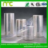 Film en plastique de chemise d'enveloppe de rétrécissement de la chaleur transparente de PVC pour la bouteille et la batterie