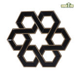 Galeria Polygon Black Mirror Frame & Wall Decor