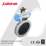 Dn100 - Dn400mm Cement Pneumatic Powder Butterfly Valve