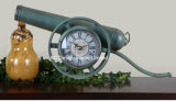 Vintage украшения старинных деревенском большой пистолет металлические формы стола часы