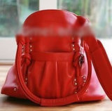 Rood Pu Dame Camera Bag (W1219)