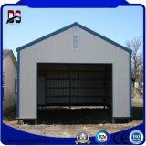 Casa de metal de prefabricados de estructura de acero de la luz de almacén de garaje