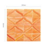 L'arte collega le mattonelle di mosaico rosse di vetro macchiato per la cucina Backsplash