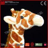 아이 또는 아이들 선물 현실적 박제 동물 견면 벨벳 지라프 연약한 장난감
