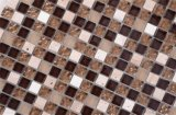 Precios baratos de cristal de estilo europeo, azulejos de mosaico para pared
