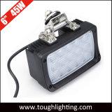 12V 24V 45W rectángulo de 6 pulgadas Epistar LED luces de los tractores de la carretilla para vehículos todoterreno