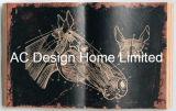 علم الحيوانات [بو] [لثر/مدف] خشبيّة كتاب شكل جدار فنية