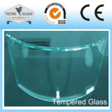 glace Tempered en verre traitée par 3-19mm avec Polished/chanfrein/bords d'Arris