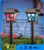 Lumière solaire en plastique de pieu de lumière de jardin