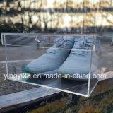 Fábrica acrílica de Shenzhen da caixa da sapatilha da sapata do indicador de Yyb