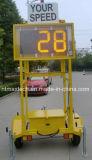 De draagbare Zonne Aangedreven Verkeersteken van de Snelheid van de Radar voor het Beheer van het Verkeer en Verkeersveiligheid