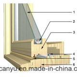 Алюминиевые деревянные окна/алюминиевый корпус с двойными стеклами окон и дверей