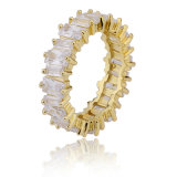 De semi Zegelring van de Douane van de Vrouwen van Juwelen 18k Goud Geplateerde