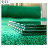녹색 PVB를 가진 6.38mm 박판으로 만들어진 유리