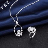 Dernier modèle Bijoux Fashion Jewelry CZ Gemestone Jewelry Set for Women