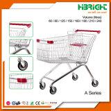 Novo carrinho de compras de supermercado com estrutura de Publicidade