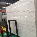De nieuwe Grijze Marmeren Plakken van het Ontwerp voor de Witte Tegels/Countertops van de Muur van Carrara (lidstaten-6537)