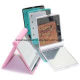 Портативная пишущая машинка 8 зеркал перемещения состава СИД миниое складывая компактную косметику руки составляет карманное зеркало с светом 8 СИД для женщин