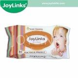 아기 청소, 피부 관리를 위한 연약한 아기 젖은 닦음