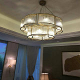 ホテルの装飾的な花の形のガラスペンダント灯