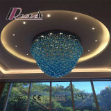 De moderne Blauwe Kroonluchter van het Kristal van het Hotel van de Stijl Decoratieve Grote