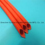 Manga de fibra de vidro de resina de silicone de 1.5kv para o chicote de fios