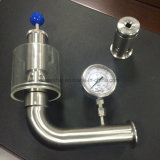 Ss304 matériau SS316L Soupape de décharge de pression sanitaires