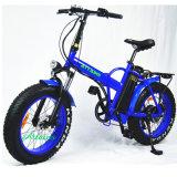 "48V 500W 20 "" 뚱뚱한 타이어 바닷가 눈 전기 자전거를 접히는 Foldable E 자전거"