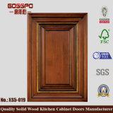 Porta de armário de cozinha em mogno de madeira maciça (GSP5-017)