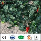 새로운 디자인 훈장 녹색 관목 꽃을%s 가진 인공적인 잎 벽
