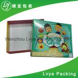 Rectángulo de papel cosmético de empaquetado cosmético de encargo de la marca de fábrica del rectángulo