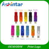 Metall-USB-Stock Platsic USB-Flash-Speicher-Schwenker USB-Blitz-Laufwerk