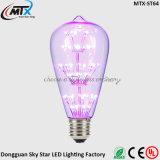 3W chauffent l'ampoule décorative blanche de l'éclairage E26 E27 ST64 de DEL