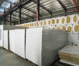 Die isolierte Felsen-Wolle-Wand täfelt AluminiumRockwool Zwischenlage-Panel