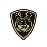 Insignia del bordado de la ropa personalizada Policía