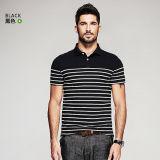 Polo de encargo de la camisa de polo de la nueva manera para las camisetas de los hombres, camisas de alineada robustas ocasionales