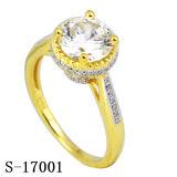925 anillos de plata del corte del amortiguador de Micropave zafiro rubí sintético claras